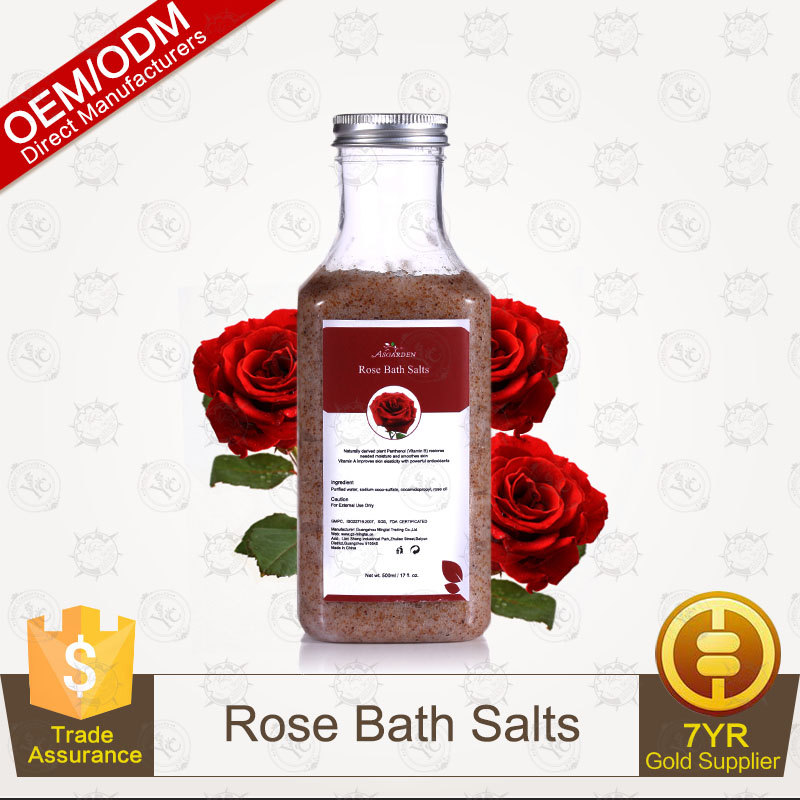 100% Pure Plants Extracts Rose Bath Salts OEM/ODM Professional Supplier