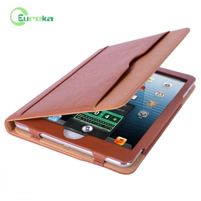 2014 Stylish stander PU leather case with sleep function for Ipad mini retina /iIpad mini 2/iPad mini