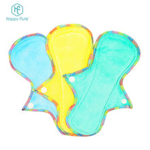 HappyFlute velour menstrual pad colored reusable sanitary pads super water-absorbing mama cloth pads
