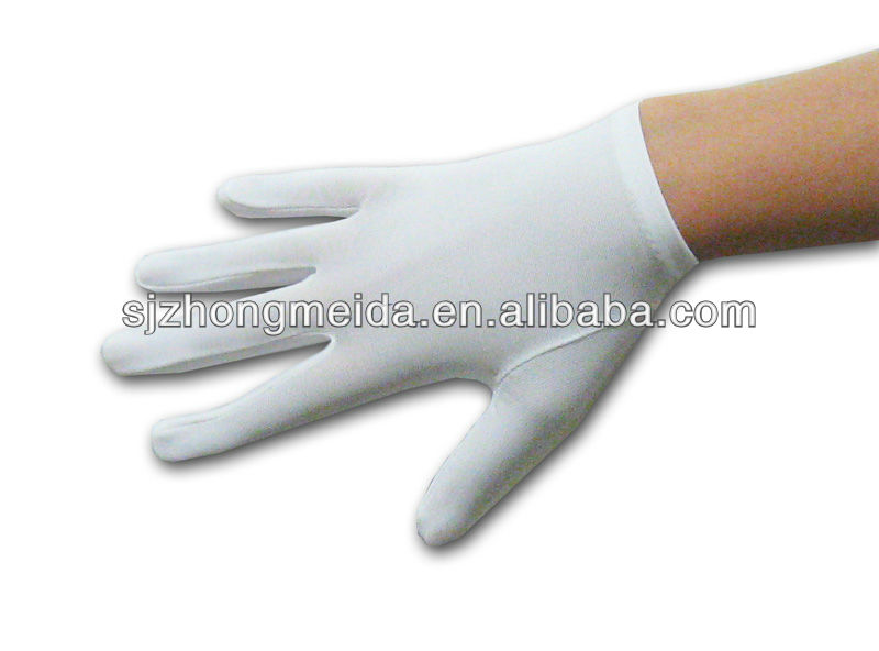 nylon parade gloves marching band gloves ladies cotton lisle inspection gloves