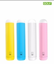 Portable gift USB charger 2000mAh mini power bank with light LED