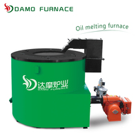 fuel oil/gas fired casting use melting furnace for aluminum ingot