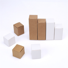 Recycled natural brown kraft gift box packaging kraft paper box folding paper box