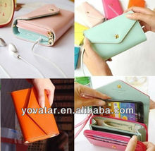 Multifunctional Envelope Wallet Purse Phone Case for iPhone 4 & 5 in 9 colors!!!