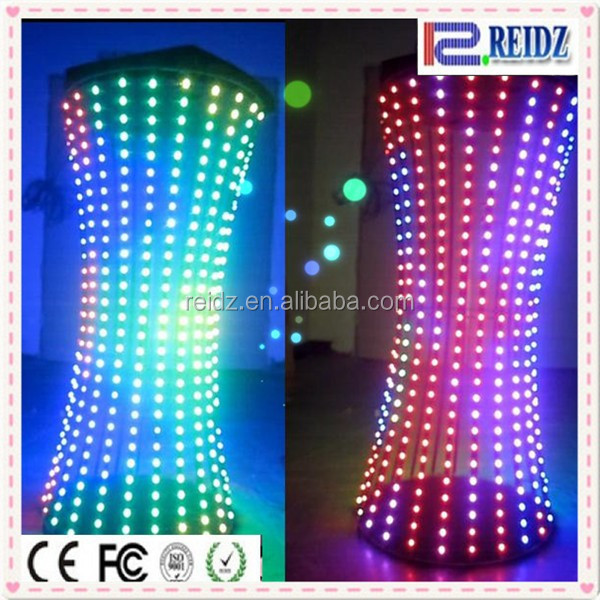 2015 nightclub iron stand truss string light SMD5050 led advertising inflatable led pillar