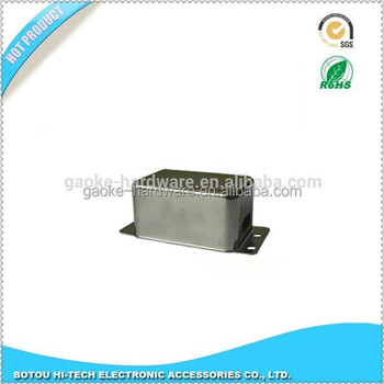 Higher frequency performance iron cover for electronic components