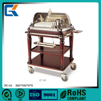 Hot selling restaurant luxury roast beef trolley with cover