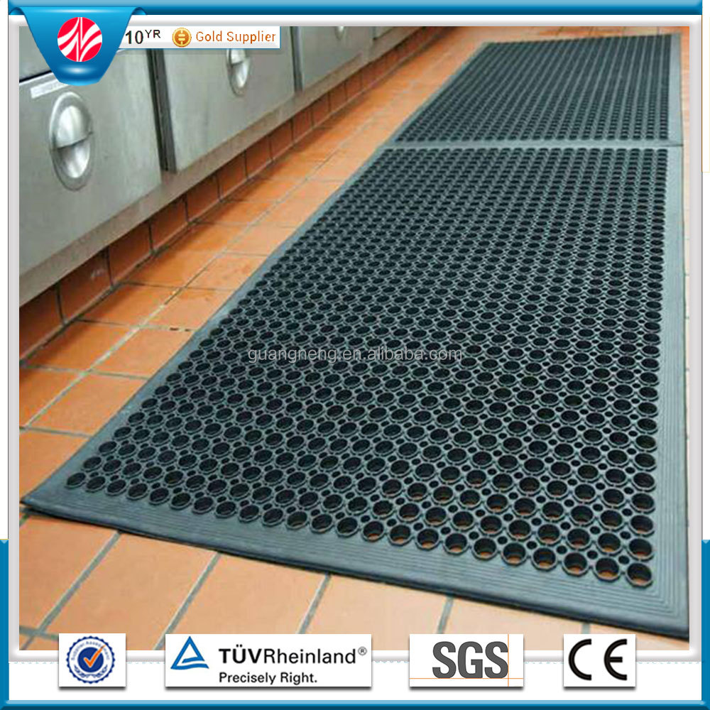 oil resistance Antibacterial anti-fatigue workshop rubber floor mat wholesale