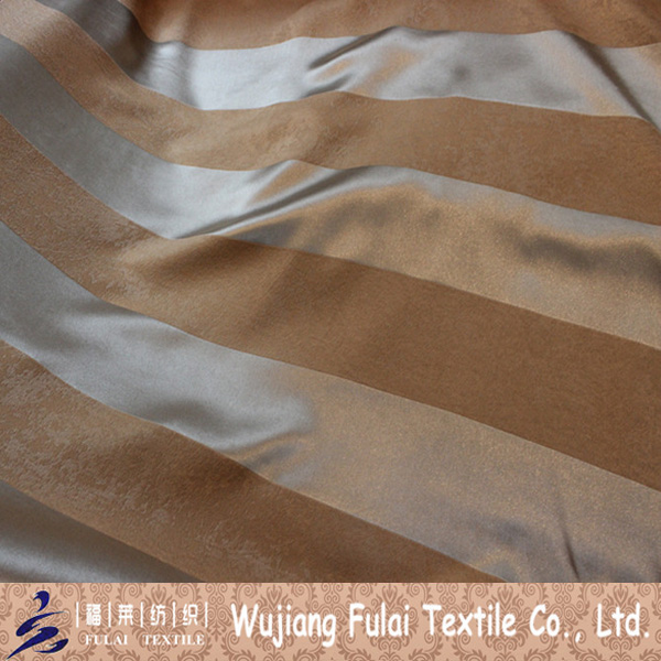 Jacquard Polyester Embossed Suede Blackout Wide Stripe Fabric