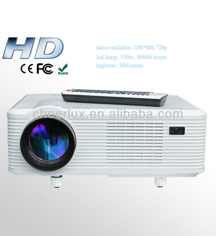 cheapest video game projector hdmi built in TV tuner with 150w led lamp for home meeting office school