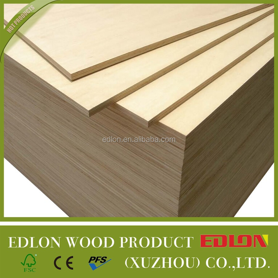 interior decoration 18mm E0 birch plywood for double bed designs , poplar plywood for furniture