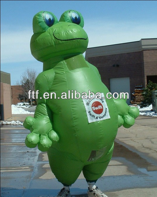 giant inflatable cartoon/big inflatable moving frog cartoon for advertising