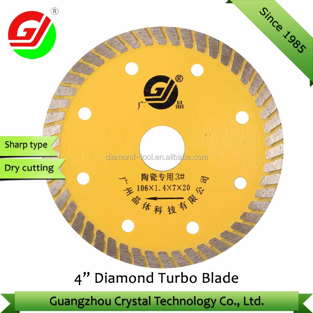 "Continuous Rim Sintered Diamond Cutting Saw Blade 4"" Ceramic Blade"