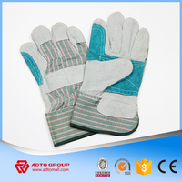 High Quality Half Leather Gloves,Double Palm and Reinforced Leather