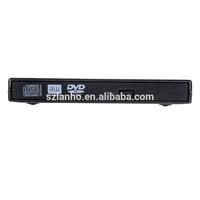 2017 new wholesale Hot Sale External Black USB Slim 8x DVDRW DL DVD CD RW Burner Writer Drive for laptop pc