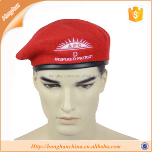 Red APC embroidery wool beret military beret hat