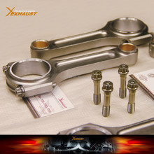 "5.430"" 1.771"" .827"" Bronze Bush Forged 4340 Chromoly Steel H Beam Connecting Rods for Honda B18C"