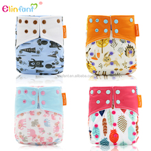 Elinfant nice square colored wing sleepy one size fit all 8-35lb baby sleeve pocket diaper