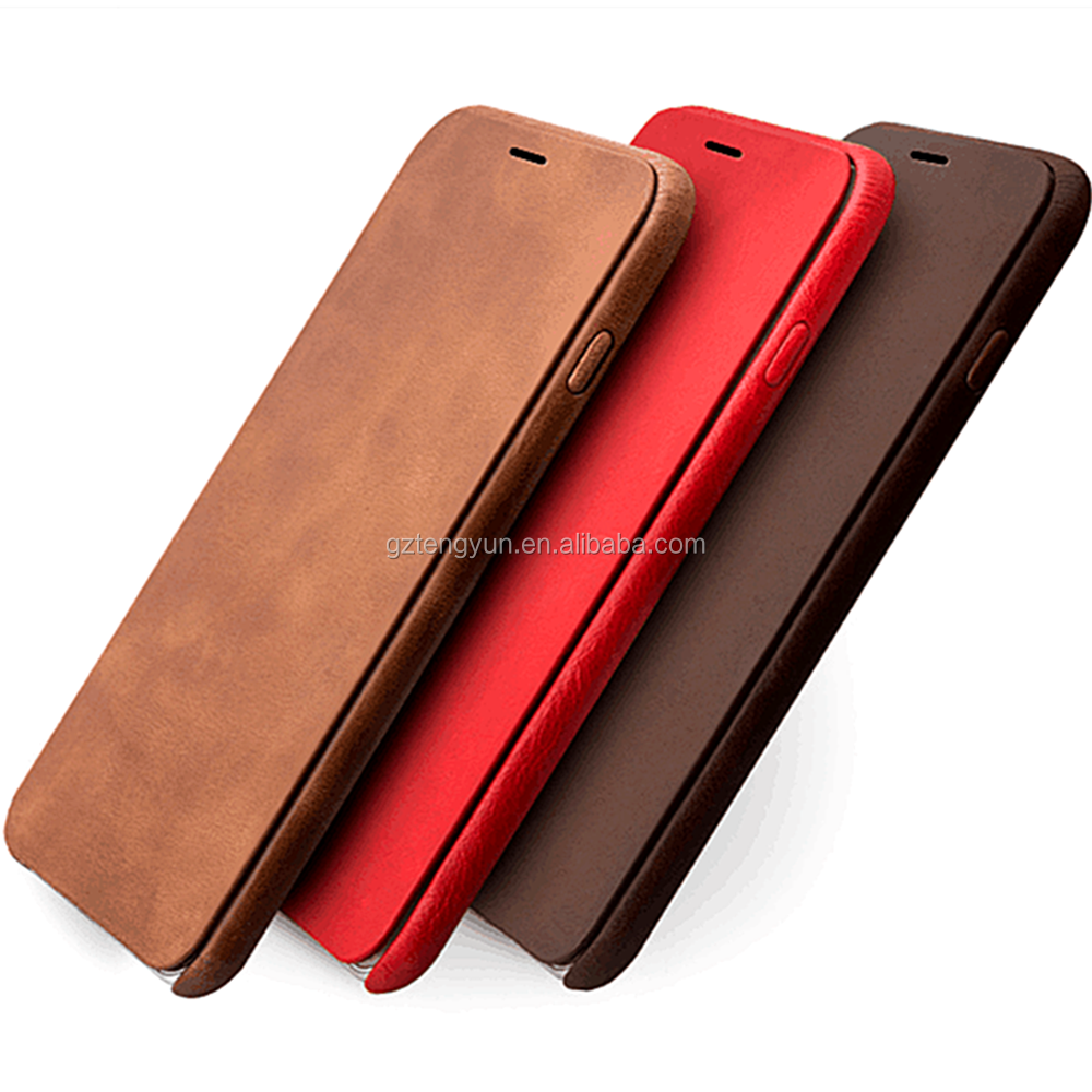 Ultra thin luxury pu leather case for iphone6