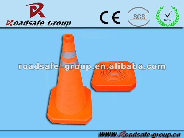 Factory Price High Standard Salable Orange Warning PVC 100cm High Traffic Cones