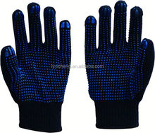 pvc diotted cotton glove/kong safety gloves