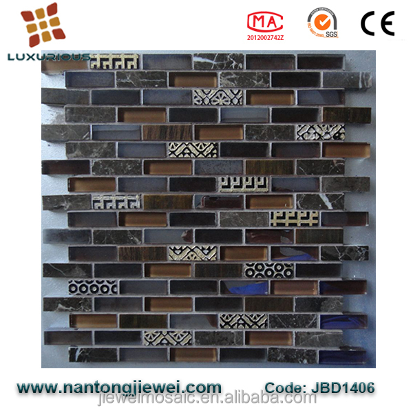 alibaba wholesales black glass floor tile backsplash