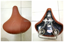 Fixed Gear BMX Red Leather Bicycle Saddle/Black Color Authentic Leather Bicycle Saddle with Copper Rail