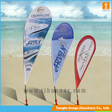 Wholesale custom advertising polyester printed feather flag teardrop banner