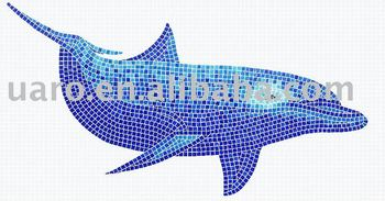 Glass dolphin design swimming pool mosaic tile buy design swimming pool mosaic swimming pool for Poole dolphin swimming pool prices