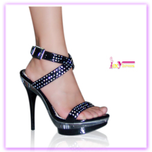 Wholesale alibaba china two lace up sexy stiletto heel sandals with flash ligh ladies fashion shoes for women
