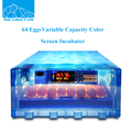 64 pcs New product Automatic Variable capacity Color screen Mini Egg Incubator