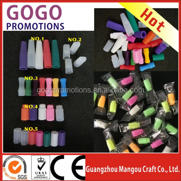 Mixed colorful 510 silicone rubber drip tip tester mouthpiece vaporizer for 510/808/901 vape pens