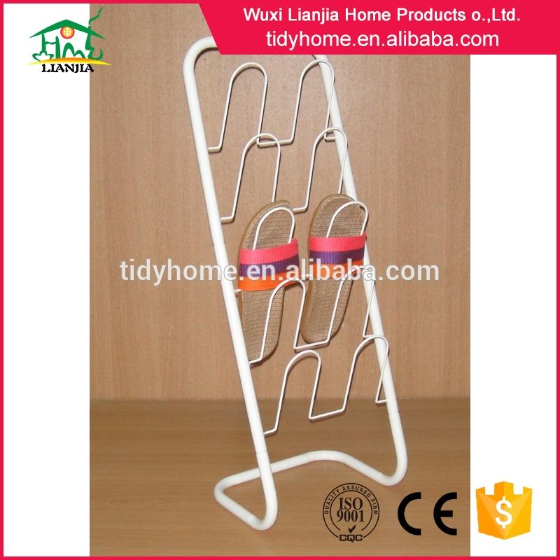 Low price factory supply decorative wrought iron wine rack for shoe clothes wholesale