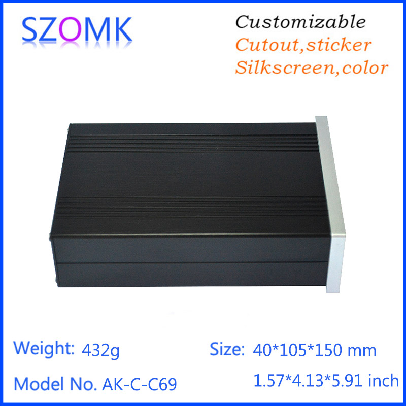 hot selling extruded amplifier enclosure aluminium project box
