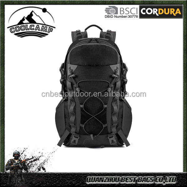 Outdoor Hiking Climbing Backpack Daypacks Waterproof Mountaineering Bag 40L, Rain Cover Included