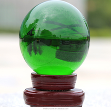 hight quality crysal crafts green color big size optical glass ball
