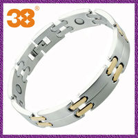 Free Shipping Unique friendship jewelry 2013 new fashion magnetic stainless steel silver gold bracelet modern jewelry holder