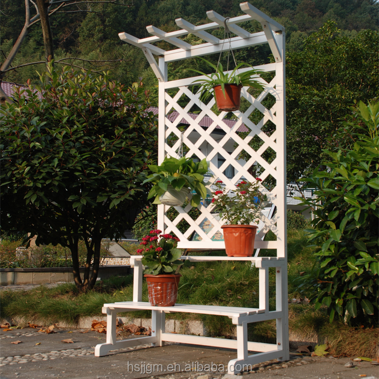 outdoor garden wooden flower stand