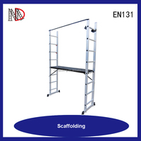 EN131 approved aluminium ladder clamp with wood platform