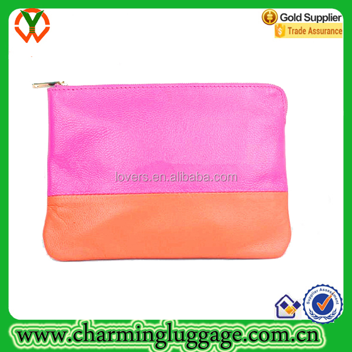 Cute Small PU leather Women's Make Up Cosmetic bag For the Bare Necessities