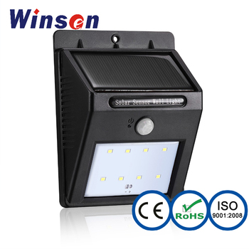 2017 solar pir motion sensor led flood light