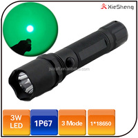 Camping 18650 battery waterproof police rechargeable green led hunting flashlight tactical flashlight 18650