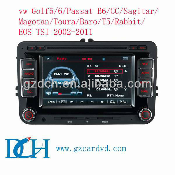 gold version car dvd player for vw volkswagen 2002-2011 WS-6530