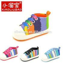 Wholesale Factory Sell Baby boy canvas shoes soft bottom infant toddler sports shoes moccasins shoes For Boys