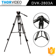 Professional Hot Sell High Quality light weight Video Tripod Photography Equipment With Adjustable Leveling