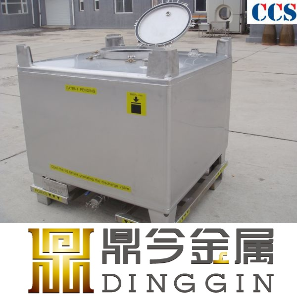 Stainless steel 1000 liter ibc container with UN approval