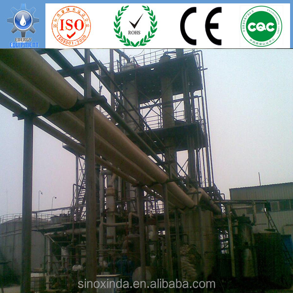 fatty acid distillation processing biodiesel used cooking oil disposal