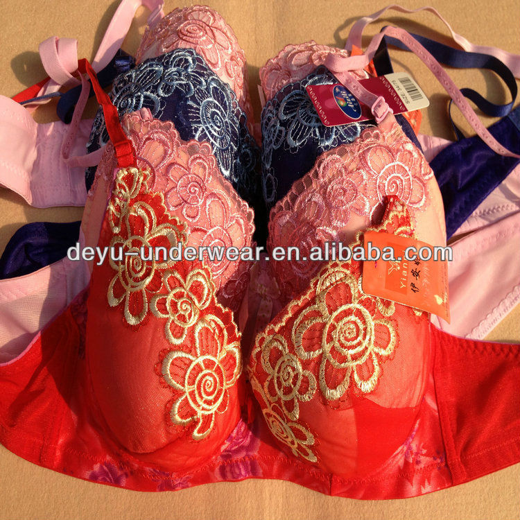 0.47USD Hot Newest Style Fashional Ladies Embroidery Cheap New Design Of Bra Pictures/ Sexy Bra ( kczd167)