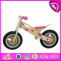 Wholesale pretty boys and girls wooden walking balance bike for baby's balance training W16C001