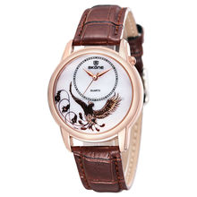 Leather Strap Quartz Movement Eagle Decoration Fashion Watch